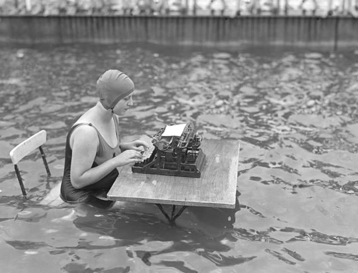 typing water